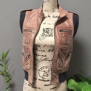 BCBG Max Azria Brown Vest XS